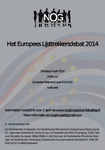 Uitnodiging NOG Debat - 8 april - Brussel